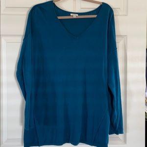 Teal sweater xl